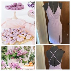 Do + Be lilac brunch dress
